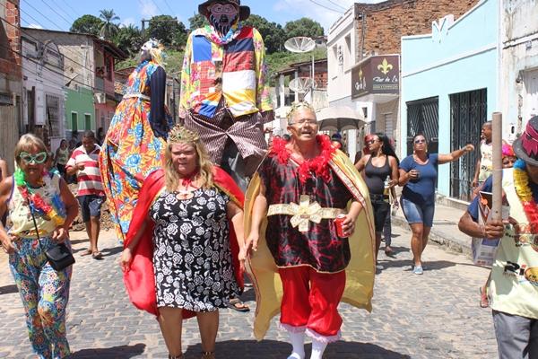 O Rei e a Rainha momesca animados,  foram a atração do Carnaval