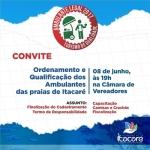 ITACARÉ: PREFEITURA REALIZA NO DIA 08  DE JUNHO REUNIÃO COM AMBULANTES DAS PRAIAS