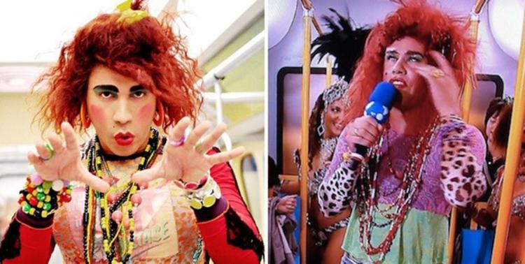 Valéria de Rodrigo Sant'Anna (à esq.) e versão feita pela RedeTV! com Tiago Barnabé (Foto: Divulgação)