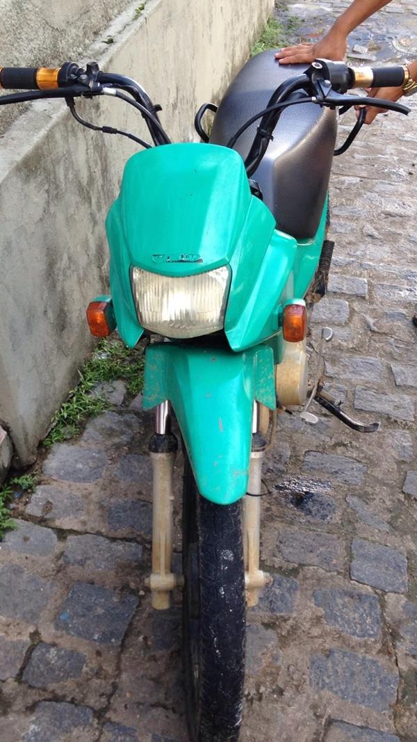 A Moto foi recuperada pela policia