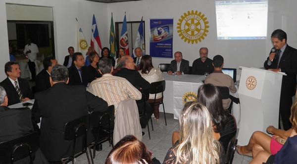 O presidente Márcio faz discurso de despedia com a consciência do dever cumprido (foto: Norma Ribeiro)