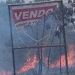 MARAÚ: INCÊNDIO DESTRÓI VEGETAÇÃO  NAS MARGENS DA BR-030