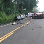 GRAVE ACIDENTE NA BR-101  ENVOLVENDO 04 VEÍCULOS DEIXA DOIS MORTOS; VITIMAS SÃO DE UBAITABA