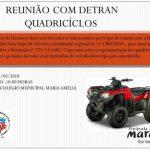 MARAÚ: DETRAN CONVOCA REUNIÃO NESTA SEXTA FEIRA (02) EM BARRA GRANDE  PARA REGULAMENTAÇÃO  DE QUADRICICLOS