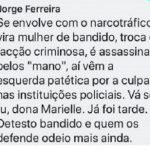 DELEGADO É AFASTADO DE PLANTÕES APÓS PUBLICAÇÃO SOBRE MORTE DE MARIELLE FRANCO