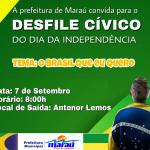 PREFEITURA DE MARAU CONVIDA POPULAÇÃO PARA DESFILE DE 07 DE SETEMBRO