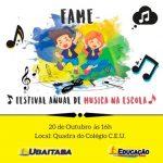 FESTIVAL DE MÚSICA MOBILIZA ALUNOS DA REDE MUNICIPAL DE UBAITABA