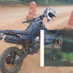 MARAÚ: GUARNIÇÃO DA POLÍCIA MILITAR DO CAUBI RECUPERA MOTO ROUBADA