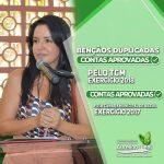 AURELINO LEAL: CÂMARA DE VEREADORES APROVA POR 8X1 AS CONTAS DA PREFEITA LÍU ANDRADE, E DERRUBA PARECER DO TCM