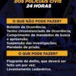 POLICIAIS CIVÍS FAZEM  PARALISAÇÃO DE 24 HORAS NESTA QUARTA (8)