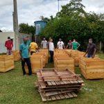 MARAÚ: AGRICULTORES DO ASSENTAMENTO SANTA  MARIA  RECEBEM COCHOS PARA FERMENTAÇÃO DE CACAU