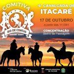 4ª CAVALGADA DE ITACARÉ SERÁ NESTE DOMINGO COM DIVERSAS ATRAÇÕES