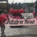 AURELINO LEAL: PASSEATA  CHAMOU  ATENÇÃO SOBRE CÂNCER  DE MAMA