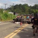 GANDÚ: ACIDENTE COM CAMINHÃO TANQUE DEIXA QUATRO MORTOS NA BR-101