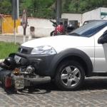 AURELINO LEAL:  MOTO BATE DE FRENTE COM STRADA EM FRENTE AO POSTO BRASIL 500