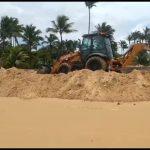 MARAÚ: MORADORES DE TAIPU DE FORA PROTESTAM CONTRA CONSTRUÇÃO DE MURO  NA PRAIA