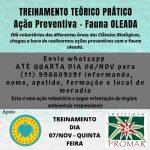 PENÍNSULA DE MARAU: ENTIDADE AMBIENTAL PROMOVE TREINAMENTO EM DEFESA DA FAUNA OLEADA