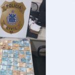 INVESTIGADO POR TRÁFICO É FLAGRADO COM R$ 110 MIL NO BAGAGEIRO DE MOTO