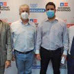 PREFEITOS DE UBAITABA E AURELINO LEAL RECEBIDOS EM AUDIÊNCIA PELO SECRETÁRIO ESTADUAL DA SAÚDE
