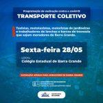 COVID-19: PREFEITURA INICIA VACINAÇÃO PARA TRABALHADORES DO TRANSPORTE COLETIVO EM BARRA GRANDE NESTA SEXTA, 28.