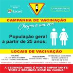 ITACARÉ REALIZA VACINAÇÃO CONTRA COVID-19 PARA ACIMA DE 25 ANOS