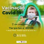 COVID-19: UBAITABA COMEÇA A VACINAR ADOLESCENTES A PARTIR DE 12 ANOS SEM COMORBIDADES