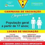 ITACARÉ REALIZA VACINAÇÃO DE PESSOAS ACIMA DE 17 ANOS